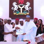 President Muhammadu Buhari Receives the form
