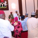 President Muhammadu Buhari addresses the cross section of the Nigeria Consolidation Ambassador Network