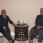 President Muhammadu Buhari receives President of South Africa Mr. Cyril Ramaphosa Along side UNGA73 taking place