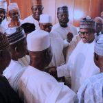 President Muhammadu Buhari chats with APC Stakeholders from Kwara State