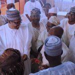 President Muhammadu Buhari flanked by the APC National Chairman, Comrade Adams Ohiomhole, Senator Ajadi and APC Stakeholders from Kwara State
