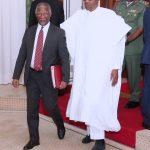 R-L; President Muhammadu Buhari Receives Former President of South Africa, Mr Thabo Mbeki