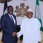 President Muhammadu Buhari Special Envoy from South Sudan and Minister of Petroleum, Hon Ezekiel Loi Gatkuoth
