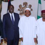 From Chief of Staff, Mallam Abba Kyari,  President Muhammadu Buhari, Special Envoy from South Sudan and Minister of Petroleum, Hon Ezekiel Loi Gatkuoth accompanied by Mr Mout Steven Riek Deug