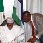 President Muhammadu Buhari and NSA Major General, Babagana Mongonu