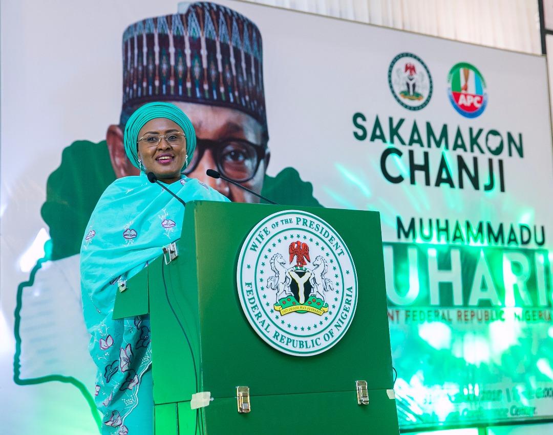 Image result for Nigeria now enjoying improved governance, Aisha Buhari claims