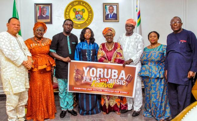 Photo news: Dr (Mrs ) Sanwo-Olu receives Yoruba Films and